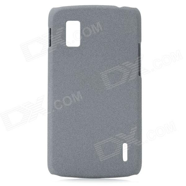 Ultrathin Quicksand Style Protective Frosted PC Back Case for LG E960 Nexus 4 - Silver Grey