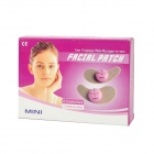 Mini Electronic 3-Mode Facial Beauty Massage Patch - Pink + White (4 x CR2032)