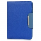 Wood Pattern Protective PU Leather + PC Flip-Open Case w/ Card Slot for Ipad MINI - Blue