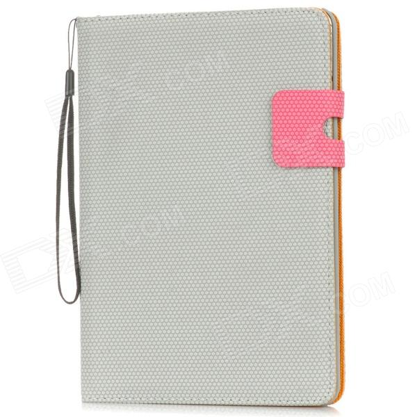 Basketball Pattern Protective PU Leather Flip-Open Case w/ Card Slot for Ipad MINI - Grey