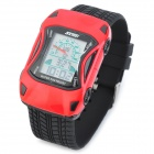 Skmei 0961 Lamborghini Car Style Kid's Rubber Casing Electronic Digital Wrist Watch - Black + Red