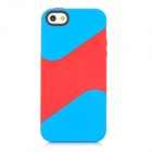 Protective TPU Back Cover Case for Iphone 5 - Blue + Red