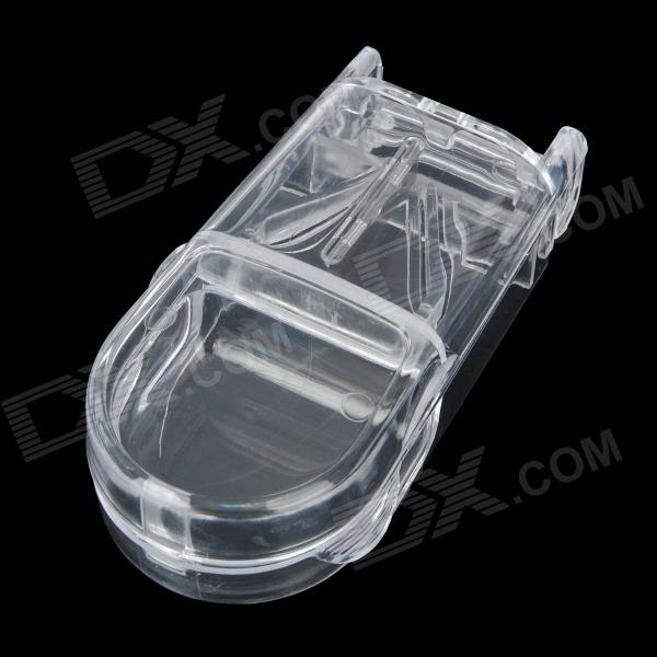 Mini Portable 1-Compartment Pill Medicine Case w/ Knife - Translucent