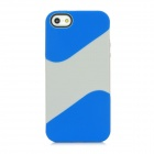 Protectdiv TPU Back Case for iPhone 5 - Blue + Grey White