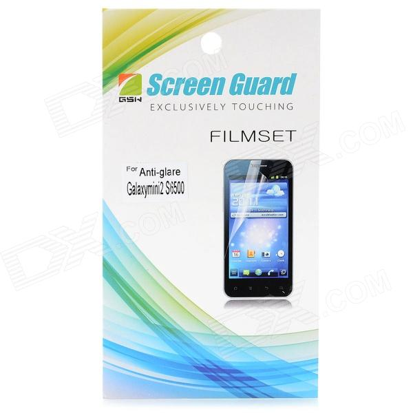 Protective Matte Frosted Screen Protector Film Guard for Samsung Galaxy Mini 2 S6500 - Transparent
