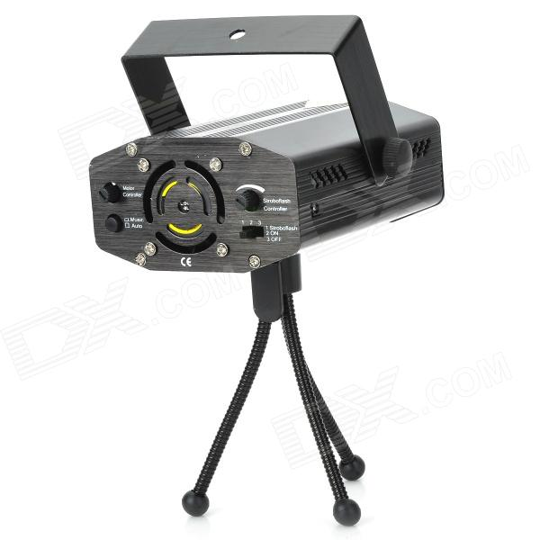 XL-65 4-in-1 50mW Green + 100mW Red Laser Stage Lighting Projector w/ Tripod - Black