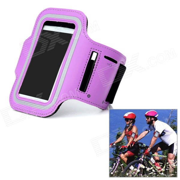 купить Outdoor Sports Gym Arm Band Armband Case for Samsung Galaxy S3 Mini i8190 - Purple недорого