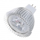 Samvol SV-3W003S-MR16-AC12V GU5.3 3W 240lm 6500K 3-LED White Light Spotlight - Silver (DC 12V)