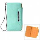 KALAIDENG Flip-Open PU Leather Case w/ Card Slots for Sony Xperia Z L36i / L36h - Green
