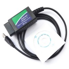 USB ELM327 OBD-II Diagnostico de coches Herramienta para Notebook / PC - Verde + Azul (DC 12V)