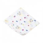 Three Layer Pure Cotton Weaving Gauze Cloth Baby Face / Bath / Sweat Towel - Yellow + Blue + Red