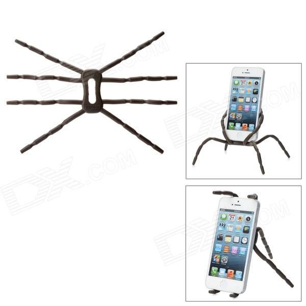Spider Style Plastic Changeable Car Mount Cell Phone Holder - Chocolate