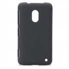 Ultra-Thin Protective Matte Plastic Back Case for Nokia Lumia 620 - Black