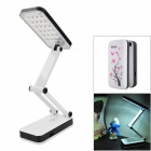 2W 180lm 5000K 24-LED Foldable Rechargeable Table Lamp - White + Pink + Black