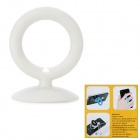 CC-592 Silicone Suction Cup Stand Cable Winder for Cell Phones - White