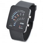 Skmei 0890 Fashion Mineral Dial Zinc Alloy Casing Electronic Digital Wrist Watch - Black