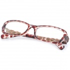 SENLAN M6271 Anti-radiation Acetate Fibre + PU Frame Resin Lens Eyeglasses - Brown + Transparent