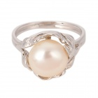 IR0349 Elegant 925 Silver + Pearl Ring for Women