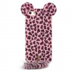 Stylish Leopard Ears + Fox Tail Style Protective Back Case for Iphone 5 - Pink + Wine Red + Black