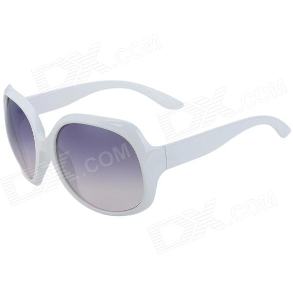 CY8150 Fashion Women's UV400 Protection Resin Sunglasses - White fashion women s resin lens uv400 protection sunglasses grey white