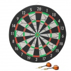 "Joerex JD6082 15"" Dart Board w/ 6-Dart - Black + White + Red + Green"