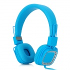 Kanen KM890 Headband Stereo Folding Split Headphone w/ 3.5mm Jack for Cellphone - Blue + Silver