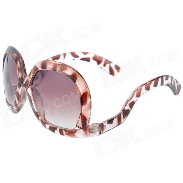 Fashion UV400 Protection Bent-Leg Sunglasses - Brown + Translucent