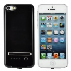 Emergency 2800mAh Power Battery Charger Back Case for iPhone 5 - Black + White