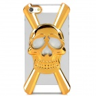 Cool 3D Skull Style Protective Decorative Back Cover Case for Iphone 5 - Golden