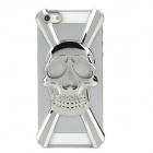 Cool 3D Skull Style Protective Decorative Back Cover Case for Iphone 5 - Silver