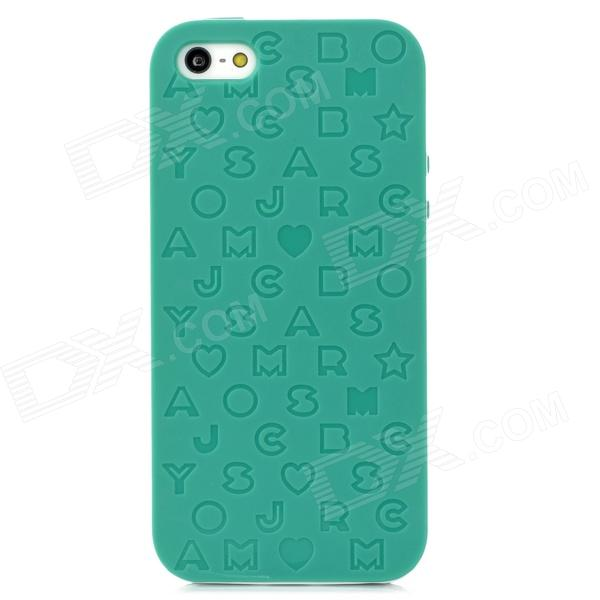English Letters Style Protective Silicone + Plastic Back Case for Iphone 5 - Green клип кейс ibox blaze для samsung galaxy a3 2017 черный