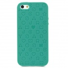 English Letters Style Protective Silicone + Plastic Back Case for Iphone 5 - Green