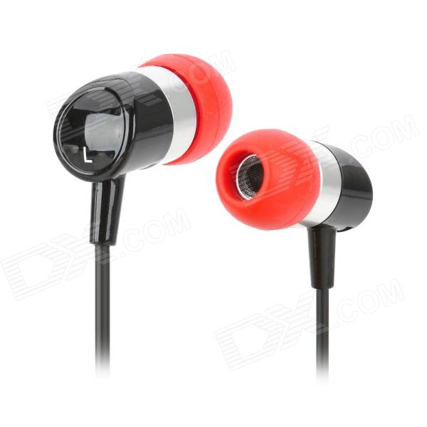 ECCI PR200MKII In-ear MP3 / Cellphone / Audio Player Earphone w/ 3.5mm Jack - Red + Black ditmo dm 6670 3 5mm plug in ear earphone w microphone for cellphone black red white