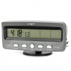 BaiYuYi BYY-7045 Car Digital Clock w/ Automotive Voltmeter & Thermometer - Black (2 x LR44)