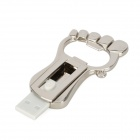 JY-005 Foot Style USB 2.0 Flash Drive Bottle Opener - Silver (16GB)