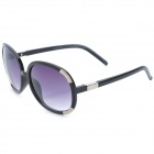 Fashion Women's Resin UV400 Protection Sunglasses - Black