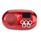 "SINGBOX SV-522 Mini 1.25"" LCD Media Player Speaker w/ Microphone / FM / TF / USB - Red"