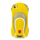 Cool 3D Car Style Protective Silicone Case for iPhone 5 - Yellow