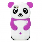 Cute 3D Panda Style Protective Silicone Case for iPhone 5 - Purple