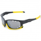 XunQi 077 Outdoor Cycling UV400 Protection Sunglasses - Yellow + Black