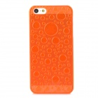 3D Water Drop Style Protective Plastic Back Case for iPhone 5 - Translucent Orange