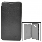 KALAIDENG Protective PU + Super Fiber Case w/ Stand for Huawei Ascend D2 - Black