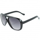 Fashion Men's Resin UV400 Protection Sunglasses - Black