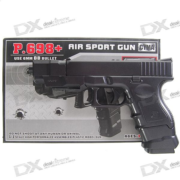 Plastic 6mm Caliber BB Gun Toy