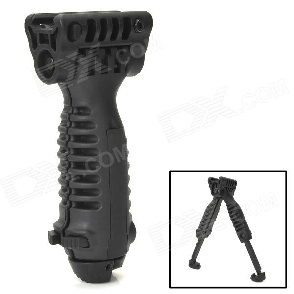 20MM Retractable Bipod Hand Grip - Black 6 aluminum alloy tactical bipod w extendable leg for guns black