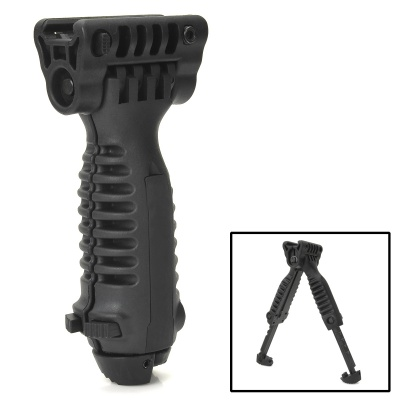20MM Retractable BIPOD Hand Grip - Black