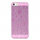 3D Water Drop Style Protective Plastic Back Case for Iphone 5 - Translucent Pink
