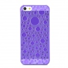 3D Water Drop Style Protective Plastic Back Case for Iphone 5 - Translucent Purple