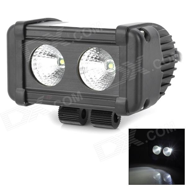 20W 1820lm 6000K LED White Light Car Working / Engineering Lamp w/ 2-Cree XM-L T6 (10~45V)Car Decoration Lights<br>Model Bar-CREE-20w Quantity 1 piece(s) Color Black Material Diecast aluminum housing Emitter Type CREE XM-L T6 Chip Type Cree Total Emitters 2 Light Color White Input Voltage 10~45 V Power 20 W Luminous Flux 1820 lm Color Temperature 6000 K Connector Type Cable connecting Waterproof Yes Waterproof Rate IP67 Application Engineering lamp repairing lamp modified lamp for off-road vehicle Certification CE Packing List 1 x Car working lamp 1 x Pack installation accessories<br>