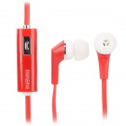 MINENG KMG-768 Stylish In-Ear Earphones w/ Microphone for Samsung / HTC / iPhone - Red (115cm)